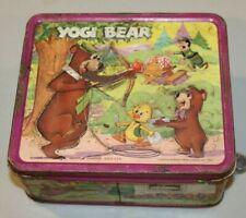 VTG Metal Lunchbox 1974 Yogi Bear & Boo Boo Ranger Aladdin HTF Hanna Barbera