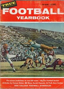 1956 TRUE FOOTBALL YEARBOOK-COLLEGE/PRO PREVIEW