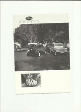 LAND ROVER COUNTY 90 & 110 PRICE LIST SALES BROCHURE/SHEET JANUARY 1988