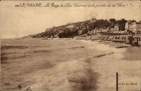 Le Havre CPA ~1910/20 La Plage Le Nice-Harvraw et la pointe de la Hève Strand