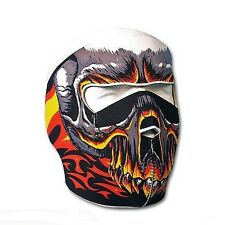 Biker Mask Fire Skull Full face Mask