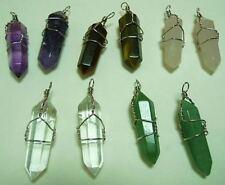 10 wire wrapped MIXED Quartz Pendants Healing Crystals chakra reiki meditation