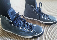 Rare PRO KEDS Leather High Top Sneakers lace up Shoe Mens Size 8.5 Converse