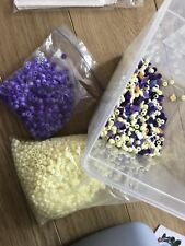 6mm smooth white and purple plastic beads arts crafts, arts, jewellery making