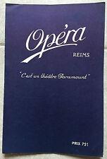 Programme CINEMA OPERA Reims MENDIANTS DE LA VIE La Belle aux cheveux roux 1930