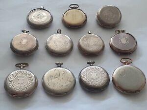 Konvolut Taschenuhren Leer Gehäuse 800 Silber
