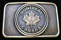 Montreal Canada Maple Leaf Belt Buckle