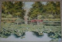 """OLIN FARRELL VOUGHT SIGNED ORIGINAL WATERCOLOR PAINTING TITLED """"ROCKAWAY RIVER"""""""