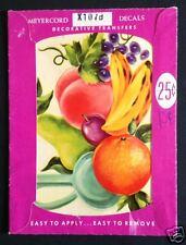 Vintage Meyercord Waterslide Decals For Your Home Fruit Orange Banana #X107B