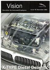 JAGUAR Vision magazine numero 18 novembre 2003 mercato britannico opuscolo X-TYPE