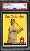 1958 Topps Baseball #429 GUS TRIANDOS Baltimore Orioles PSA 7 NM