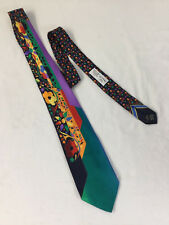 VITALIANO PANCALDI For VASARI Made in Italy Silk Abstract Floral Necktie