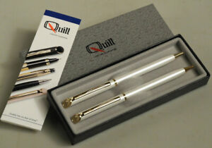 Quill Pen & Pencil Set Never Used Condition. Silver Color