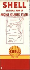 1956 Shell Road Map: Middle Atlantic States NOS