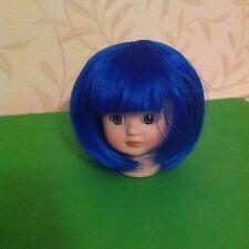 """BJD Dolls Short Wig 7"""" Head ,Blue New No 11"""