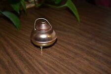 Vintage mini copper kettle with lid, feet & handle