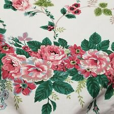 Waverly Vintage Fabric Shower Curtain Floral Roses 72 x 72 Gorgeous