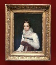 Malerei über Porträts auf Leinwand im Biedermeier-Stil