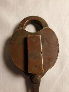 Railroad Lock, NYC RR, Wilson Bohannon Brass Beauty. In Working Condition!