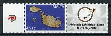 Malta 2017 MNH Essen Philatelic Exh Personalised Stamp 1v Set + Label Stamps