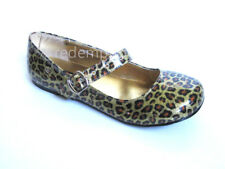 *Cute Demonia Shiny Glitter Gold Leopard Buckle Ballet Flats Pinup Rockabilly 6