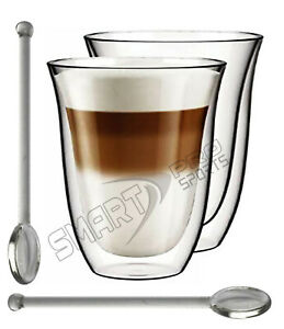 300ML/280ML/250ML. Latte Glasses Cups Mugs sets for Coffee Tea Cappucino