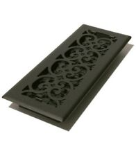 "4 x 12"" Steel Floor Register - Black Cast Iron Look St412"