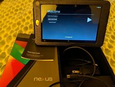 Google Nexus 7 (1st Gen) 16 GB, Wi-Fi, 7in -Black, w/AC charger, USB cable case