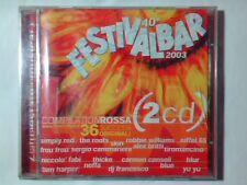 2CD FESTIVALBAR 2003 COMPILATION ROSSA CARMEN CONSOLI BLUR BEATLES EIFFEL 65 NU