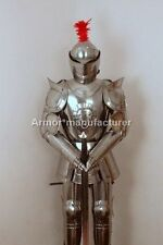 Medieval Knight Suit of Armor W/ Sword Combat Full Body Armour Stand