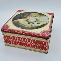 """Vintage Thorne's Toffee Candy Tin Hinged Lid Made in England 5-1/2"""" x 1-1/2"""""""