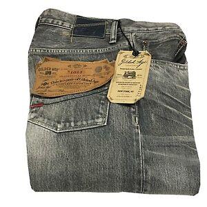 GILDED AGE Men's Jeans Grey Mod. GA1011-B Baxten 100% Cotton Made IN Japan