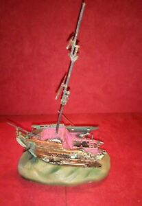 Vintage Penn Plax Rocking Shipwreck Action Aquarium Ornament O-90 Brown & Green