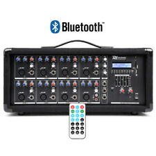 More details for 8 channel 800w bluetooth mixer amplifier with remote for live pa stage dj bands