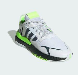 Adidas Nite Jogger Men's Size 10 Signal Green White Black Walking Running Night