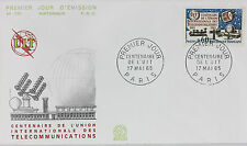 ENVELOPPE PREMIER JOUR - 9 x 16,5 cm - ANNEE 1965 - TELECOMMUNICATIONS
