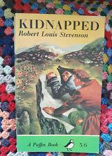 Vintage  'Kidnapped' Robert Louis Stevenson 1964 reprint of paperback Puffin