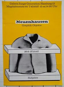 Original Ausstellungsplakat Poster NEUENHAUSEN 1967 Galerie Junge Generation HH