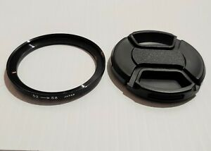 52-58mm Lens Filter Step-Up Ring & 58mm Lens Cap (LC-58)- Made In Japan