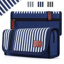 Pencil Case, Fyy Premium Canvas Pencil Bag Pencil Box for Boys and Girls Navy