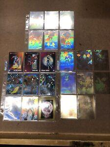 Marvel, DC, Valiant Trading Card Lot- hologram, chromium