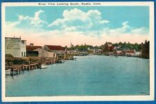 River View Looking South, Mystic, Connecticut - Early Postcard