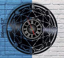 Moon Phase Sign Vinyl Record Wall Clock Art Lunar Display Hanging Room Decor