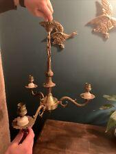 Classic Antique Vintage 3 Arm Brass Chandelier Ceiling Light Rococo Baroque