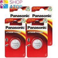 4 PANASONIC LITHIUM CR2354 BATTERIES 3V COIN CELL mAh 560 KCR2354 EXP 2028 NEW