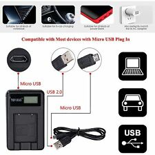Camera battery charger & USB cable Sony Cybershot DSC-S750 S780S950 S980 S950/B