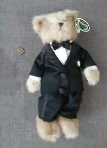 "The Bearington Collection Bears 10"" Beary Handsome Husband Stuffed Animal 170911"