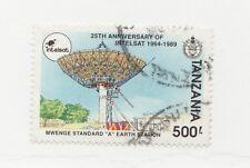 TANZANIA Sc# 742 Θ used 25th Anniversary Intelsat communications postage stamp