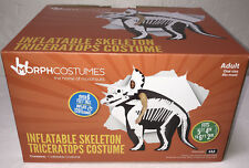 """NEW Morph Inflatable Skeleton Triceratops Costume Adult Size Fits 5'4"""" - 6'2"""""""