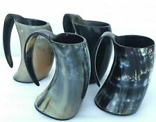 Vintage Viking Drinking Horn Tankard Beer Wine Mead Horn Mug Set Of 4 Pieces